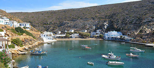 The village of Cheronissos in Sifnos